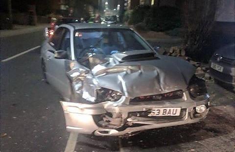 Lewis Subaru after crash