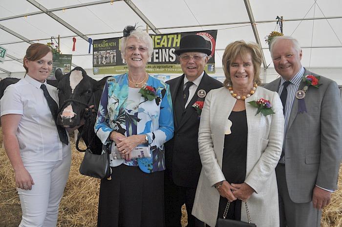 Libby Turner, Cynthia Croxson, President Vic Croxson, Pamela Garnett, Chairman Tony Garnett
