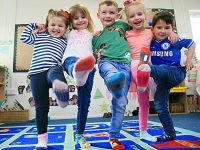 Nantwich children wear Silly Socks for Down's Syndrome fundraiser