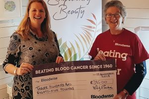 Bloodwise charity benefits from new Nantwich business donation