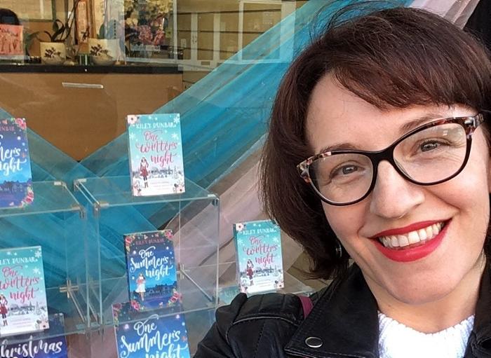 Local author Kiley Dunbar with her window display at Nantwich Bookshop & Coffee Lounge (1)