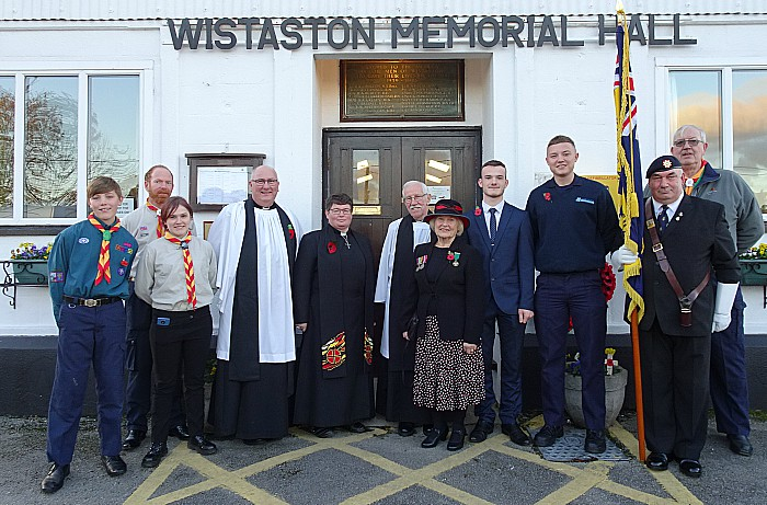 Local dignitaries at the Remembrance Service