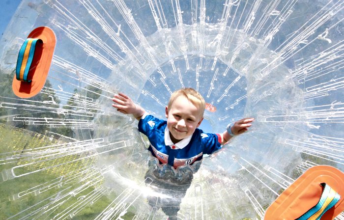 Reaseheath Family Festival - Lucas Churchill 6yrs SOT zorbing (1)