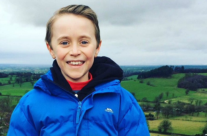 Lucas Mottram, 10, and Snowdon charity climb