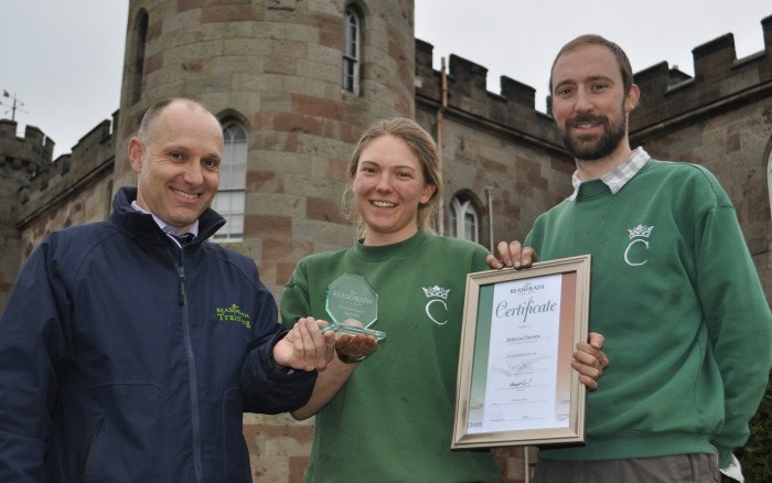 Apprentice gardener - Lyndon Smith, Rebecca Dawson and Barry Grain at Cholmondeley