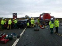 Two men in hospital after M6 motorway crash in Cheshire