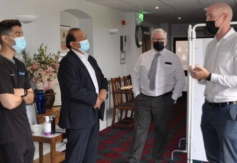 MP Kieran Mullan hails Willaston Covid vaccination centre