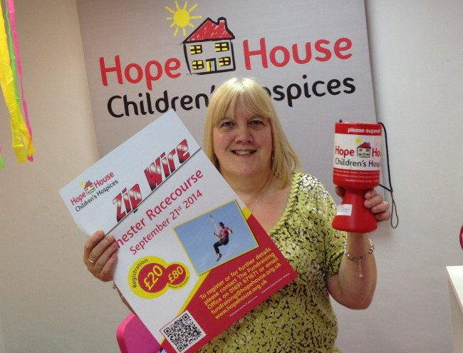 Maggie Jones is doing a zip wire challenge for Hope House