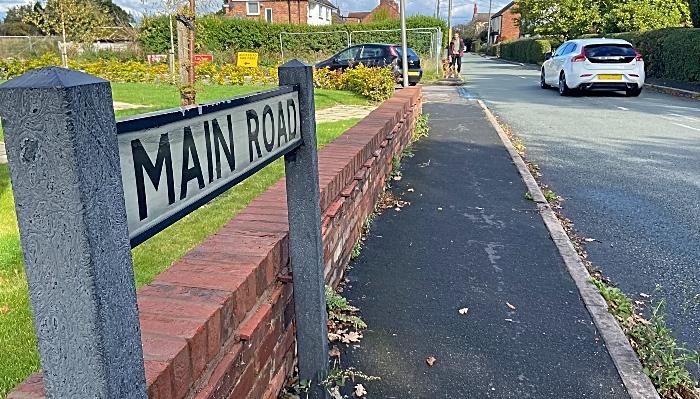 Main Road Shavington entrance-exit adjacent to proposed housing development (1)