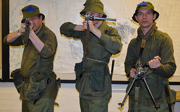 Malayan Emergency re-enactors from Foreign Field historic entertainment and display