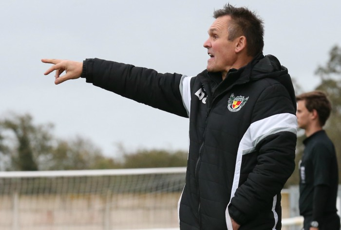 pre-season Ashton defeat - Manager Dave Cooke gives orders