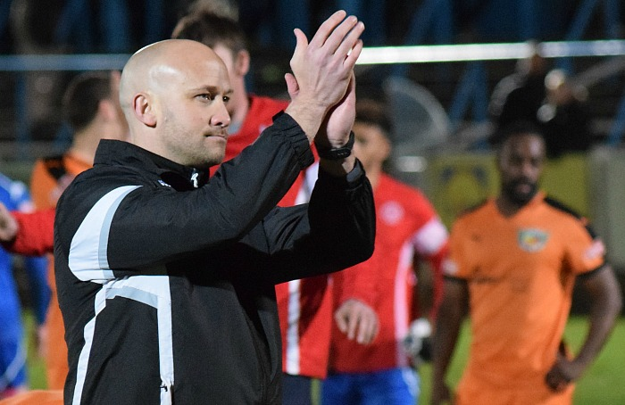 Manager Phil Parkinson thanks the away fans for travelling to Halesowen