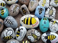 Nantwich pebble artists remember Manchester terror attack victims