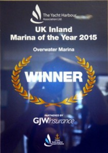 Marina of the Year Winners Certificate