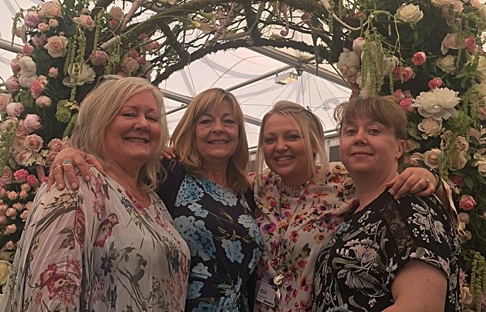 Marion Downes, Sue Kinsey, Karen Cope,Clare Brindle RHS Chelsea Future Florists - floristry