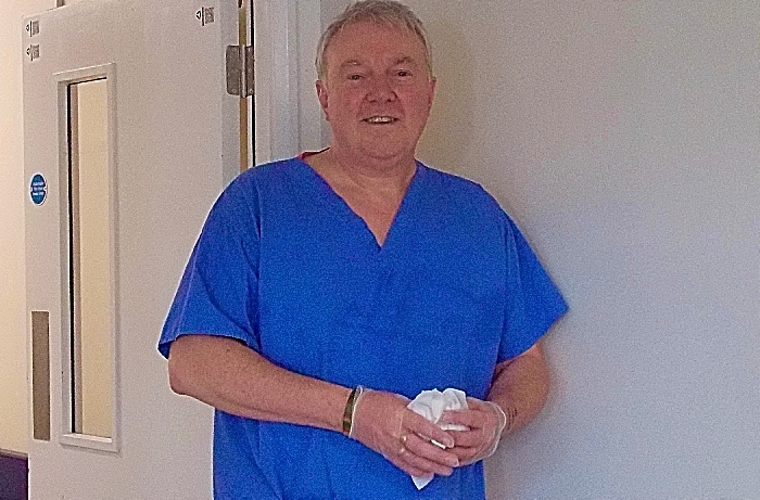 Mark Bickerton - soap writer is cleaner at Leighton Hospital (1)