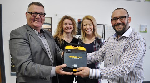 Nantwich college receives eight life-saving defibrillators from SADS charity