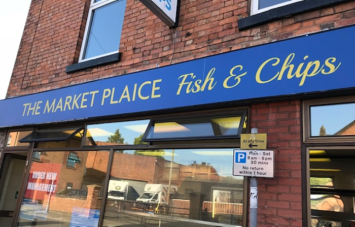 Market Plaice Fish and Chips in Nantwich