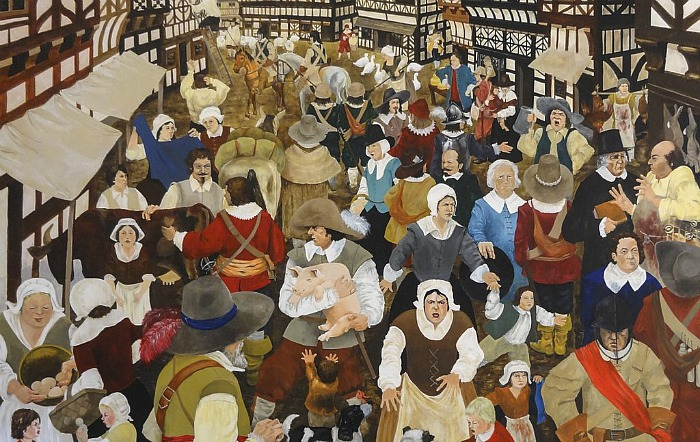 museum talks on exhibition - market square 1642, photograph by paul topham 190716 1024