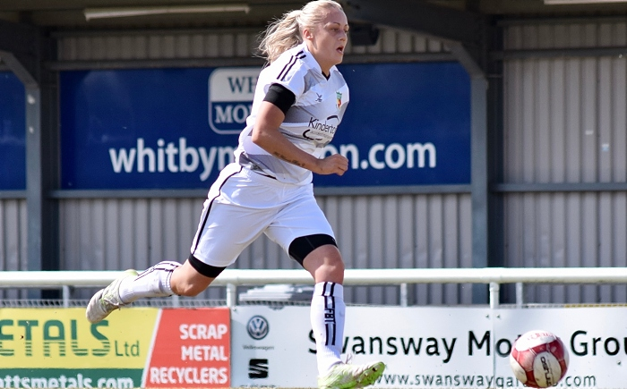 Marni Williams on the attack - promotion for Ladies