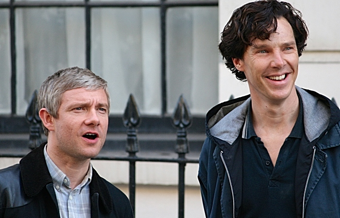 Martin Freeman + Benedict Cumberbatch, Sherlock Holmes
