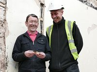 Stonemason reunited with matchbox left in Beeston Castle wall in 1964!