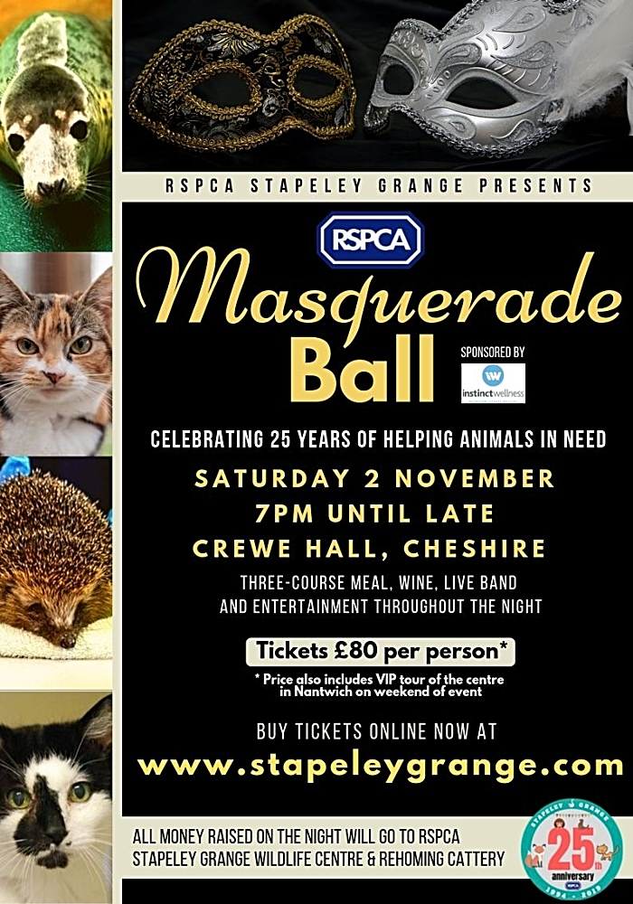 Masquerade Ball posted RSPCA Stapeley