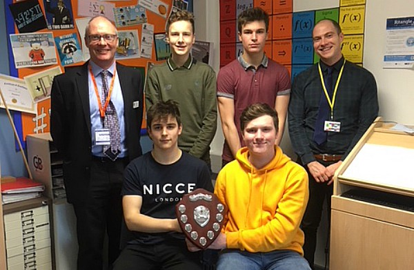 Mathematicians from BL6 show Keele Shield won for performance
