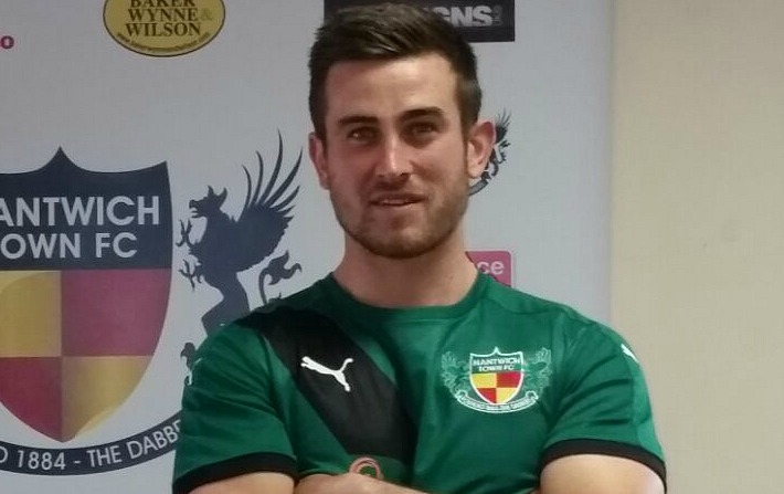 two goals against Skelmersdale - Matt Bell, Nantwich Town, man of match in FA Trophy