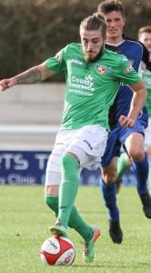 Max Harrop against Ashton United