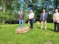 New seating feature unveiled on Mill Island in Nantwich