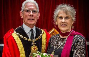 Mayor of Nantwich Councillor Arthur Moran and Consort Councillor Carole Thomasm (1)