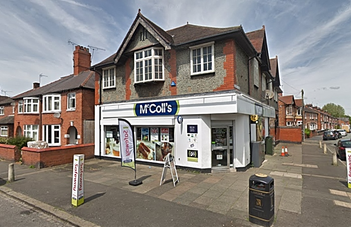armed robbery - McColls on gainsborough road - google street view