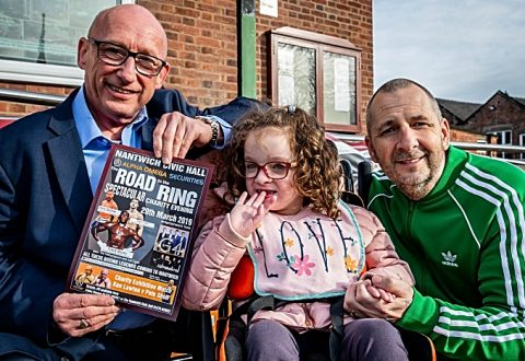 Nantwich girl with rare brain condition to meet celebrity boxers