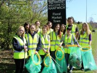 Nantwich students litter pick in 'Clean for Queen' campaign