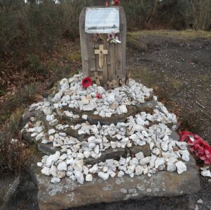 Memorial to Pilot Officer Hughes RCAF near Liss in Hampshire (1)