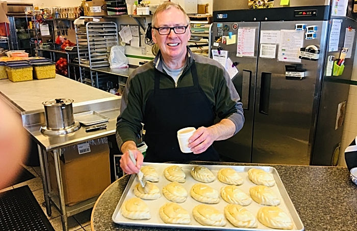 Michael burgess making pasties