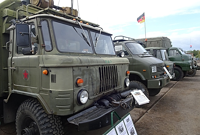 Military vehicles on display