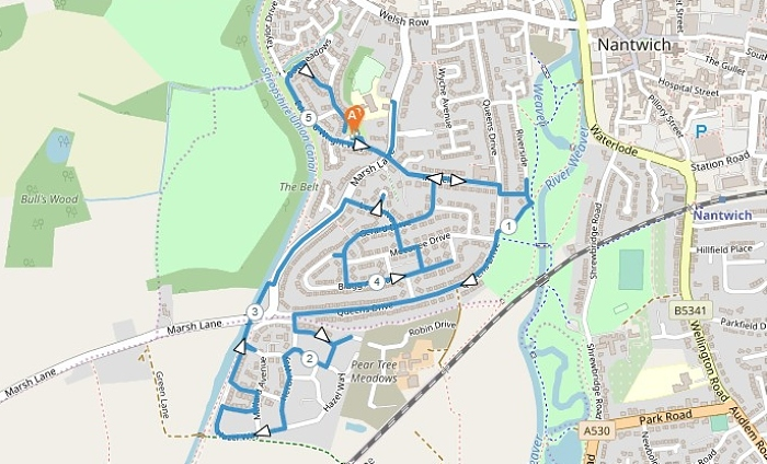 Millfields Footstep Trail map