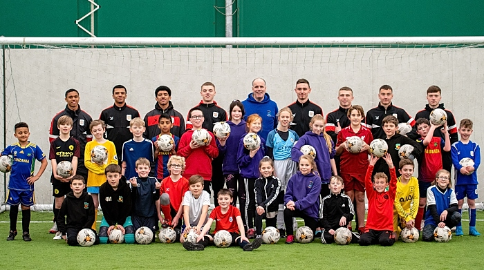 Millfields school pupils with Crewe Alex apprentices 2019 (1)