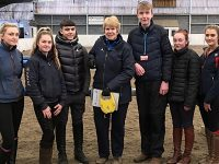 Equine students in Nantwich learn from showjumping designer