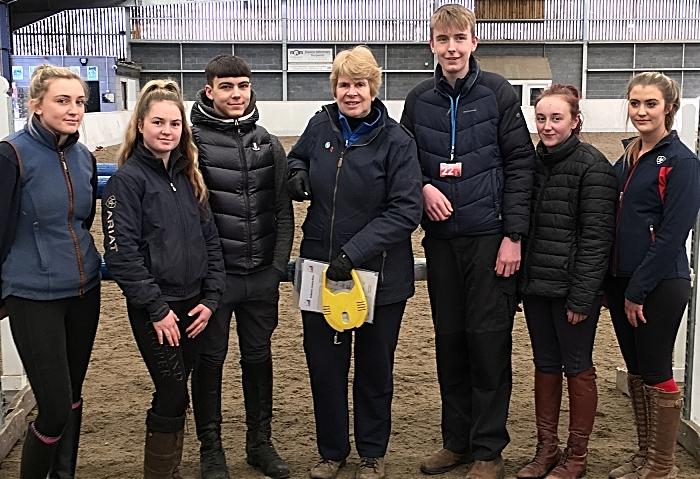 Equine students Millie Corfield, Hana Johnson, Tayler Davis, Sue Barratt, Lewis Ecclestone, Libby Hodkinson, Zara Roberts (1)