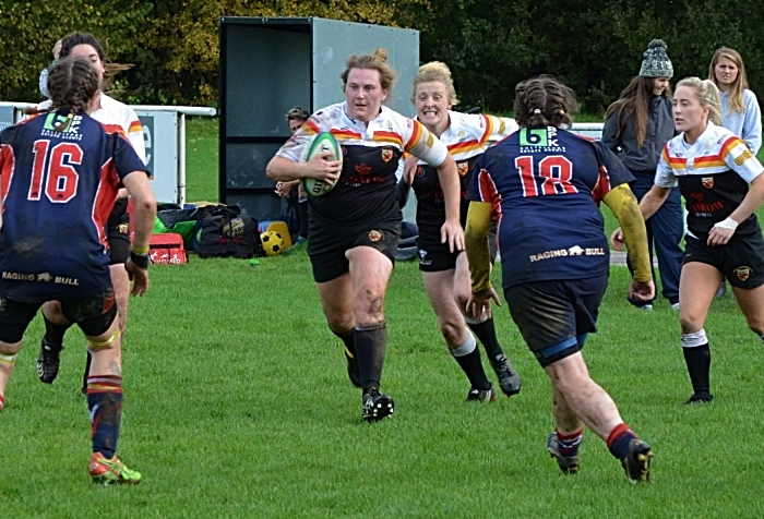 Mollie Latham for Crewe & nantwich Ladies v Carlisle