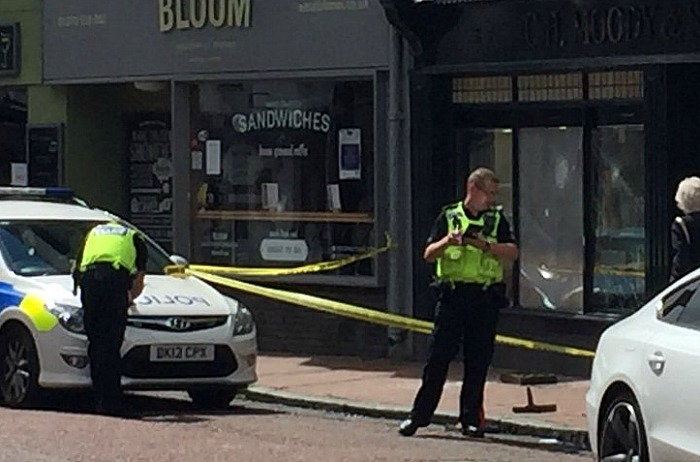 Moody's jewellery shop raid Pillory Street, Nantwich, pic by Jonathan Welford
