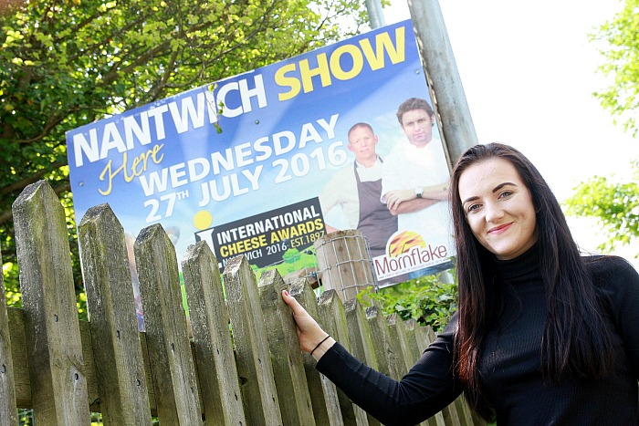 Mornflake brand manager Hannah Smith at the entrance to the Nantwich showground