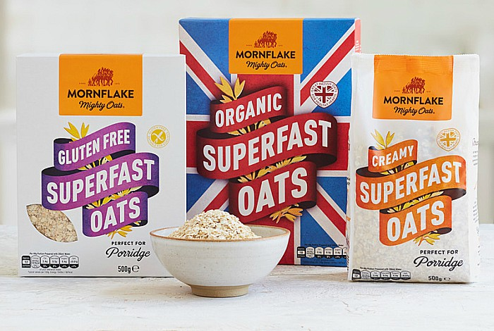 Mornflake porridge - rebrand