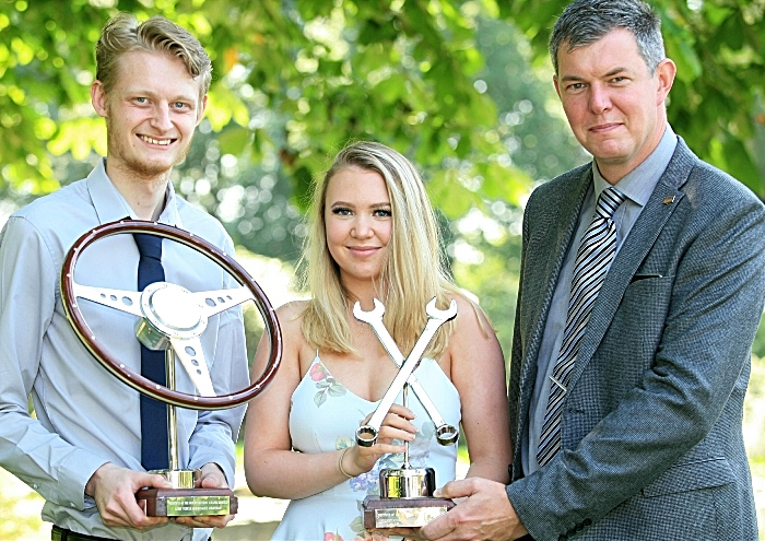 Motor Vehicle Kallum Washburn, Molly Hambrook and Duncan Mould (course manager) (1)