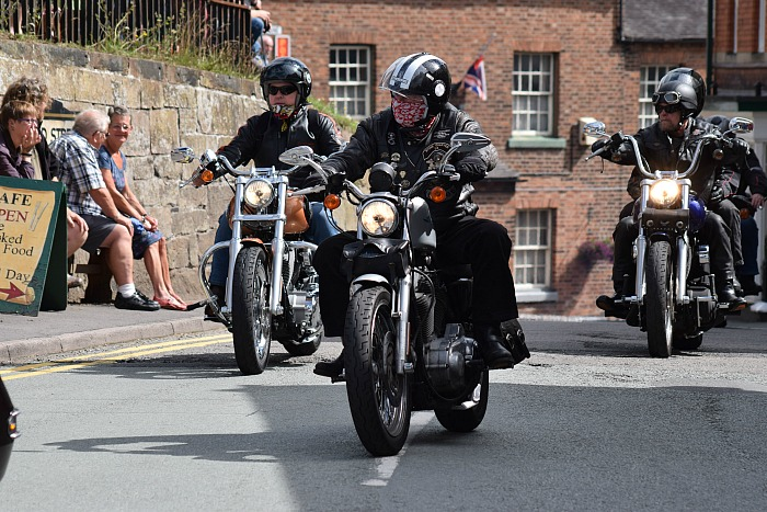 Motorcyclists in the parade