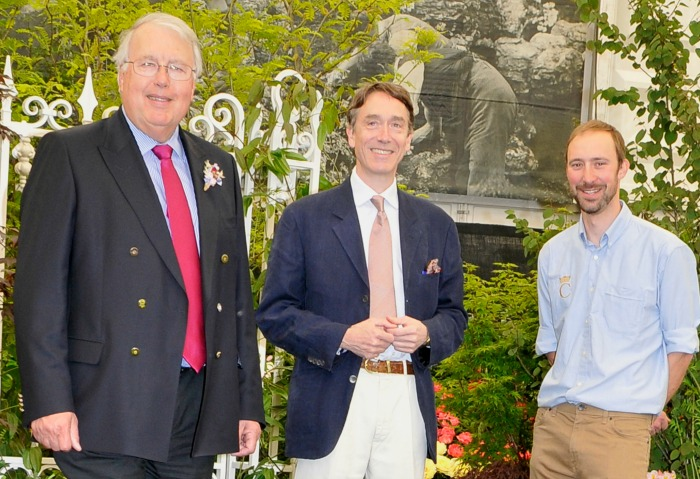 Mr Lea Lord C and Barry close up - chelsea flower show