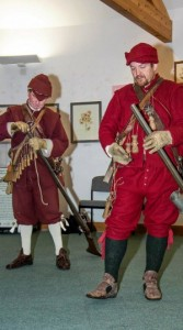 Musketry demonstration led by members of the Sealed Knot. Picture Paul Topham